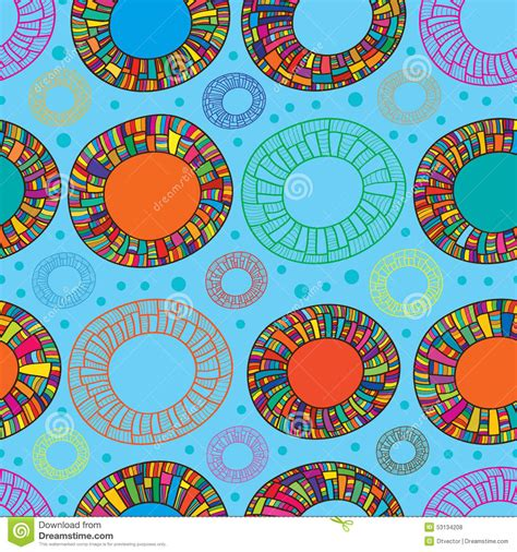 happy color happy color donut seamless pattern stock vector