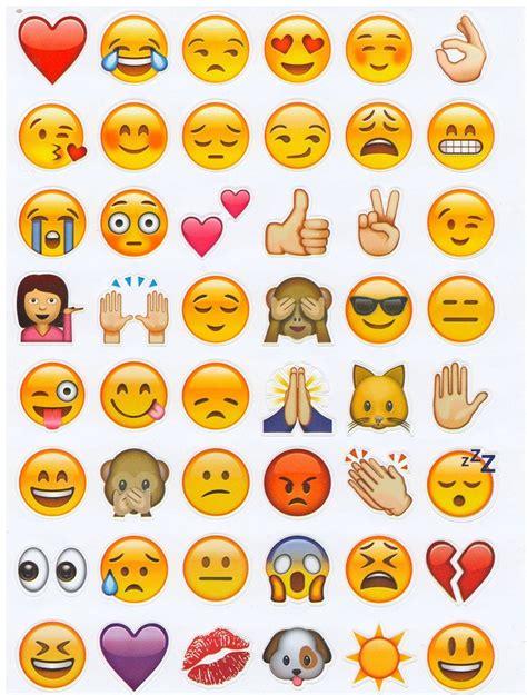 printable emojis stickers emoji stickers set of 912 emojis fun
