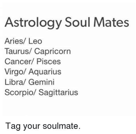 astrology soul mates aries leo taurus capricorn cancer