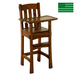 amish handcrafted arts crafts baby high chair solid wood