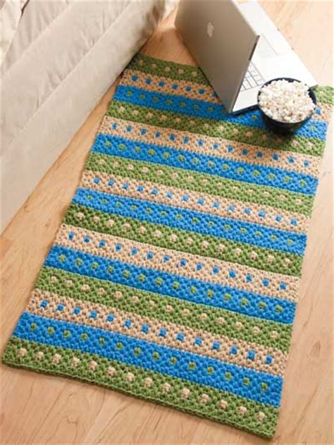 crochet rug patterns easy crochet rug patterns dotted stripes rug