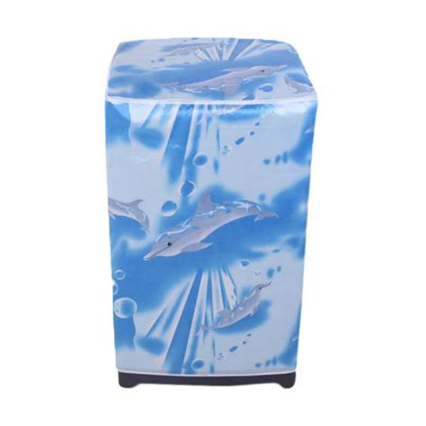 Jual Sarung Cover Mesin Cuci Buka Atas Type A Depan Type B Laundry Jual Homestuff Dolphin Cover Mesin Cuci Buka Atas Type A