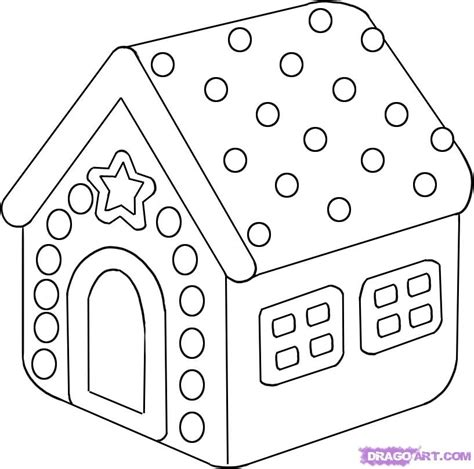 drawing a house how to draw a gingerbread house step by step christmas