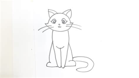 cat on chair drawing drawing of a cat how to draw a cat sitting