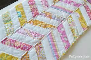sew an easy herringbone baby quilt the diy