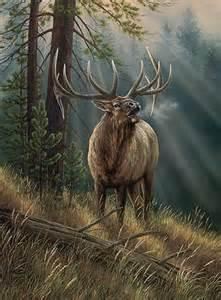 elk painting painting
