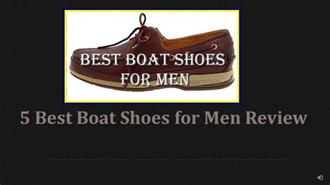 best shoes for boat r 5 best boat shoes for men 2017 review youtube