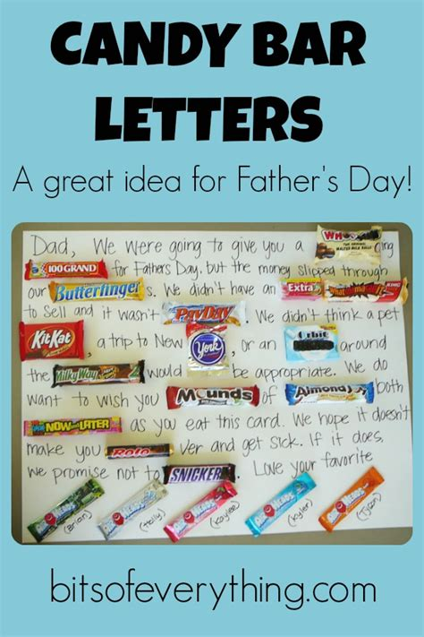 Letter Using Chocolate Bars Father S Day Bits Of Everything