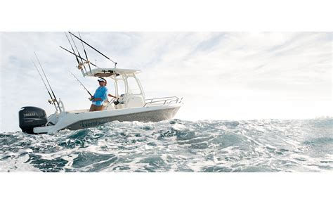 boat photography water level view small sport fishing boat in ocean