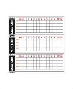 golf scorecard template 10 golf scorecard templates free sle exle format