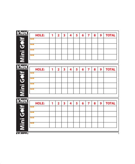 golf score cards template 10 golf scorecard templates free sle exle format free premium templates