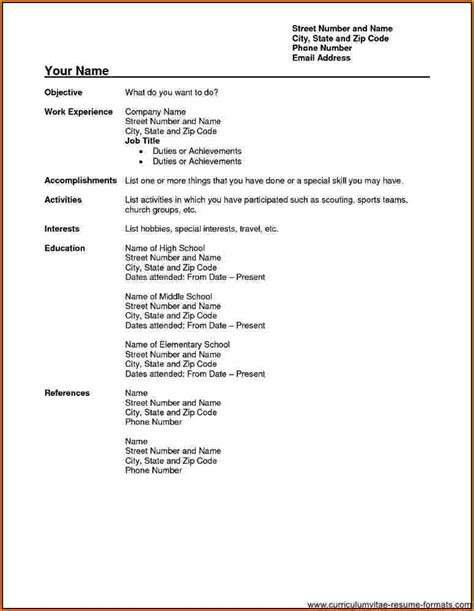 fillable resume template awesome fillable resume form images resume ideas