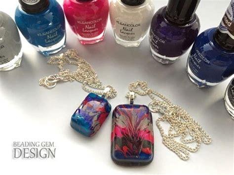 nail art jewelry tutorial resin art nail polish diy pendant tutorial