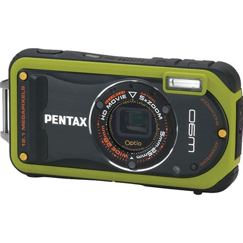 pentax compact pentax optio w90 compact digital green 16426 b h