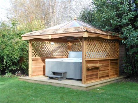 cedar gazebo kits cedar tub gazebo kits pergola design ideas