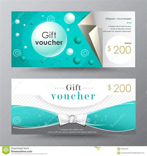 template for alternative gift card gift voucher template promotion card coupon design