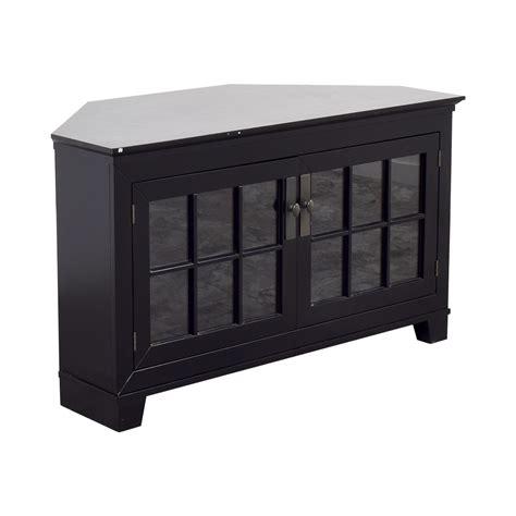 crate and barrel media cabinet 90 off crate barrel crate barrel wood and glass