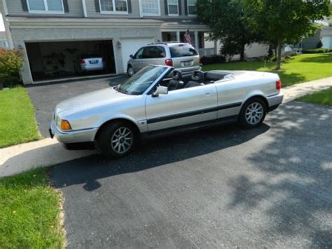 buy used 1995 audi cabriolet base convertible 2 door in plainfield illinois united states for