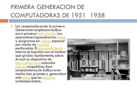 generacion de las computadoras generacion de computadoras ppt descargar