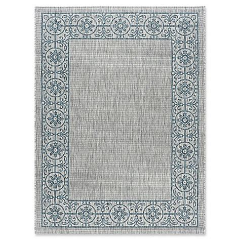 Veranda Indoor Outdoor Rugs Tayse Rugs Veranda Border Indoor Outdoor Rug Bed Bath Beyond