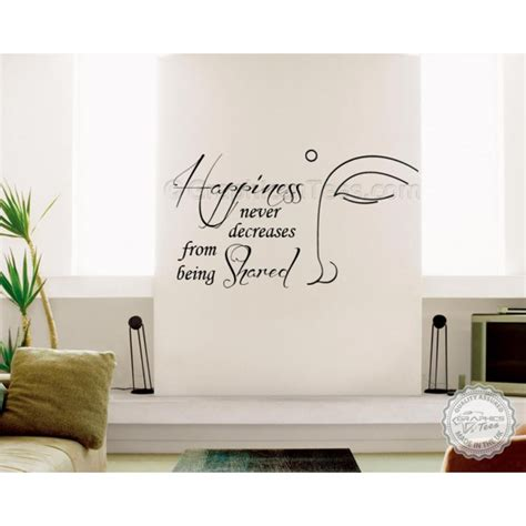 wall stickers shop buddha inspirational wall sticker quote happiness never