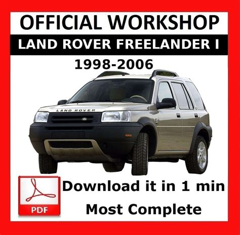 car repair manuals online free 1991 land rover sterling seat position control gt gt official workshop manual repair land rover freelander 1998 2006 5010960622896 ebay