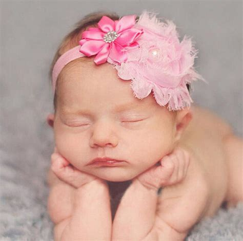 beautiful headband hairband baby flowers new baby beautiful flower pearl headband