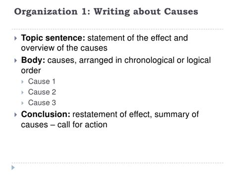 Cause Effect Essay Topic Sentence by Paragraph Structure Cause And Effect