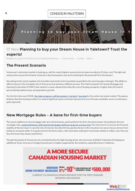 planning to buy your house in yaletown