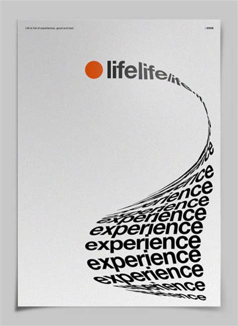 layout text poster life experience poster