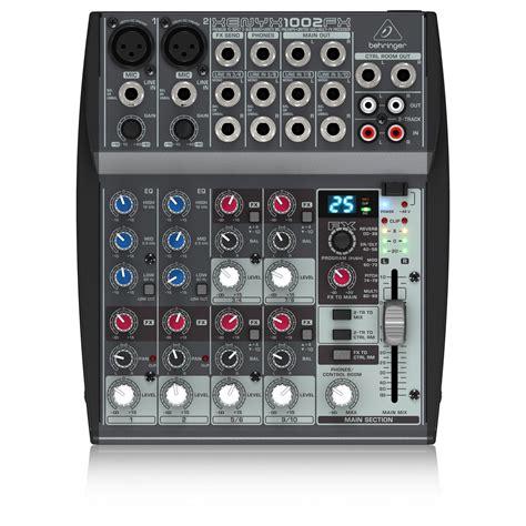 Mixer Behringer Xenyx 1002fx behringer xenyx 1002fx mixer box opened at gear4music
