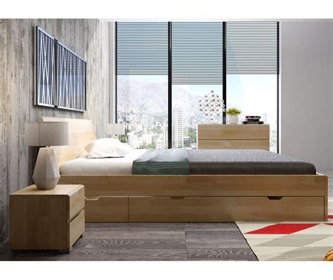 letto con cassetti letto in legno vestre in faggio con cassetti vivere zen