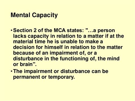 Mental Health Act Section 5 2 by Lecture 7 Consent And Capacity Child Protection