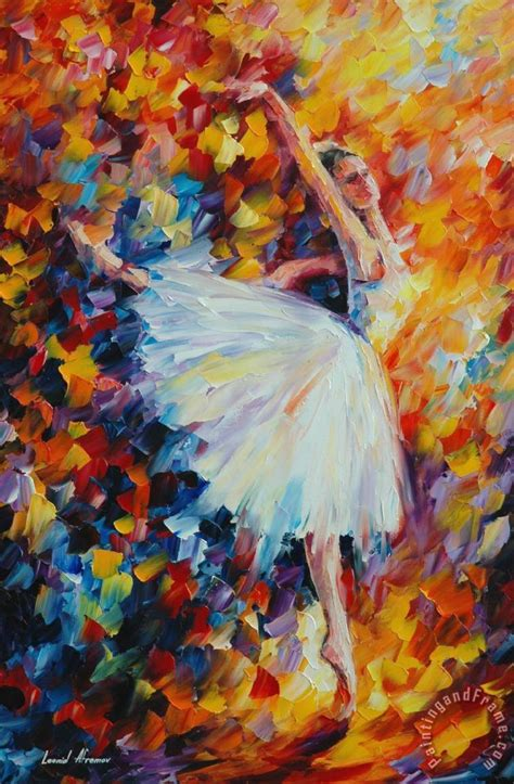 Leonid Afremov Ballet Magic Painting Ballet Magic Print