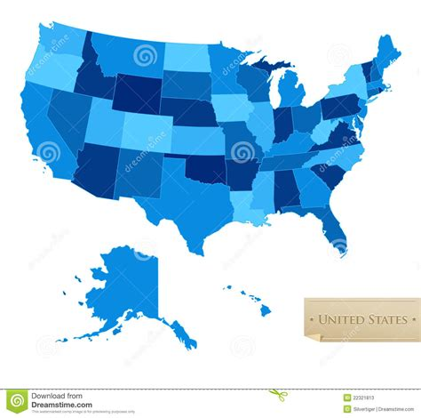 america vector map with states us map united states map with all 50 states stock photos