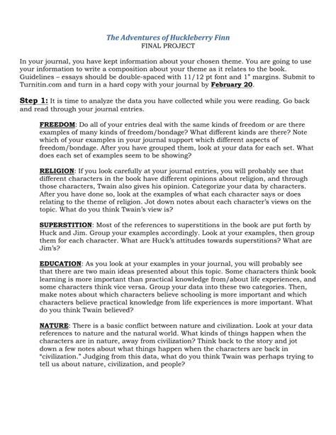 themes in huckleberry finn essay huckleberry finn thesis 28 images adventures of