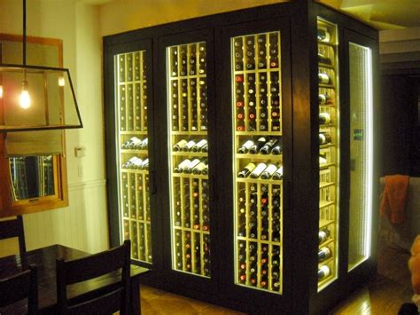 cabinet wine display with led lighting traditional