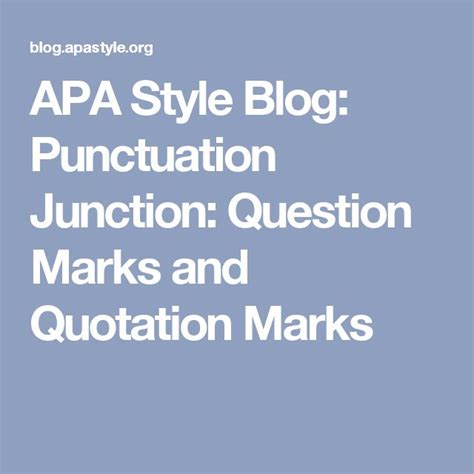 apa format quotation marks 1000 ideas about quotation punctuation on pinterest
