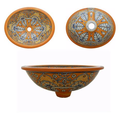 Mexican Ceramic Sink by 66 M Mexican Ceramic Sink Bathroom Sinks Wash Basin Ebay