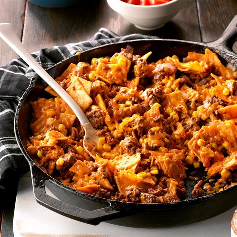 easy ground beef dinners holiday time savers recipe easy beef taco skillet recipe taste of home