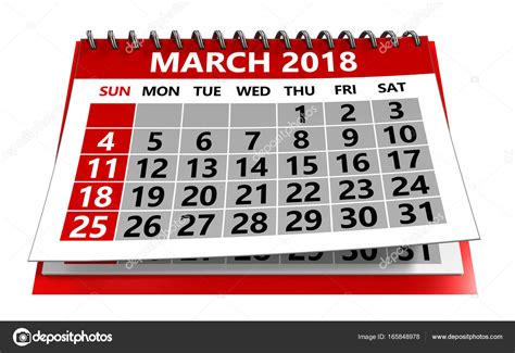 calendario clipart march 2018 calendar stock photo 169 mmaxer 165848978