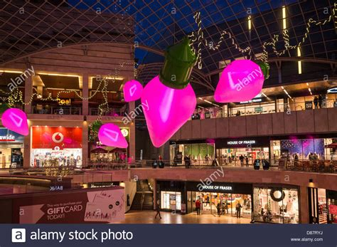 shopping centre with christmas decorations cabot circus