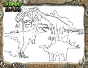 dino colouring pages
