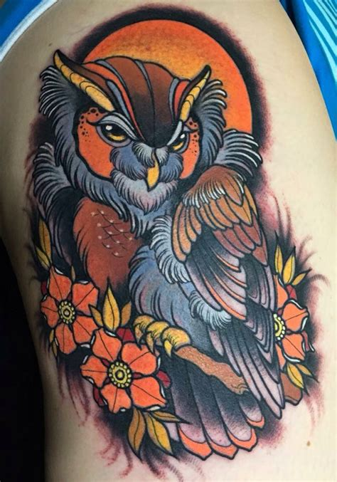 neo traditional owl tattoo pin by david eyre on tattoos owl and