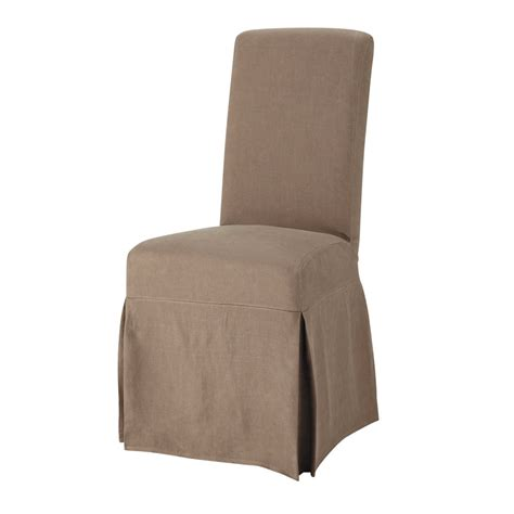 Taupe Chair Covers by Washed Linen Chair Cover In Taupe Margaux Maisons