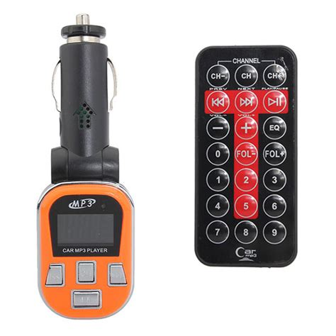 Car Fm Modulator With Usb Charger Micro Remote lcd display fm transmitter usb charge car mp3 with remote alex nld