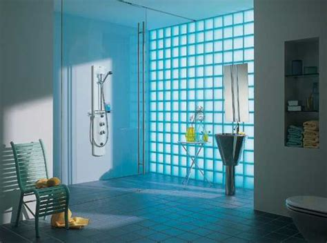 glass block bathroom designs glass block wall design ideas adding unique accents to eco homes