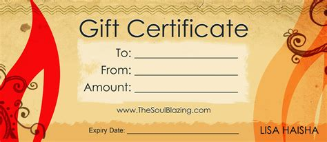 free customizable gift certificate template birthday gift