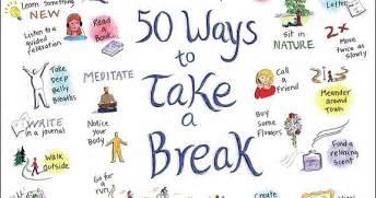 50 ways to take a break wherever you are sandglaz blog