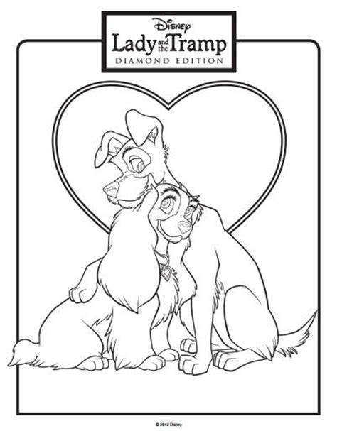 disney coloring pages lady and the tr lady and the tr clic disney characters coloring pages